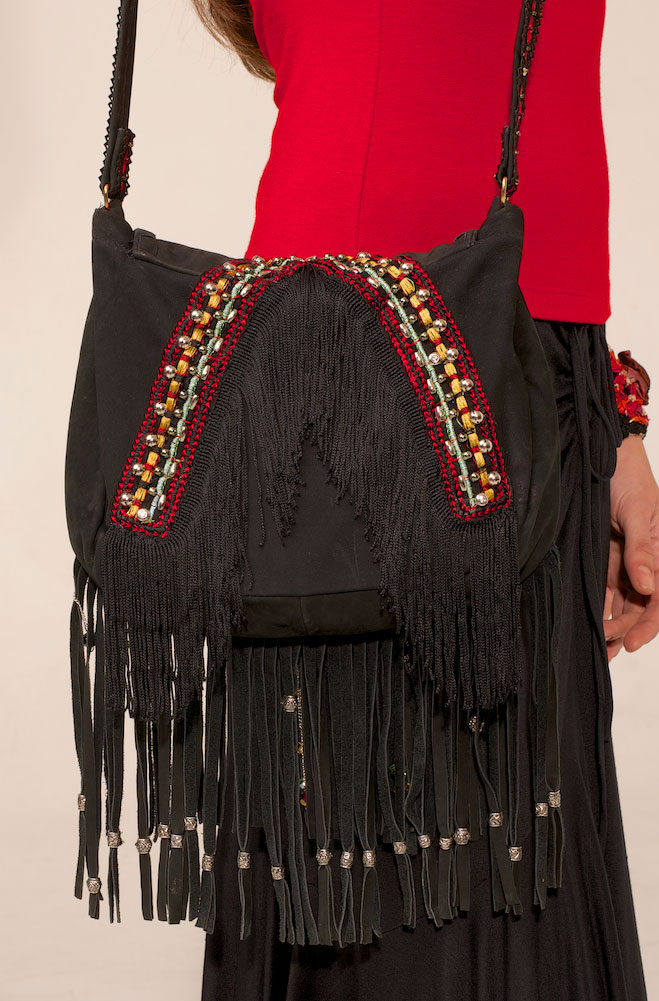 Handmade One of a kind Fringe Handbag