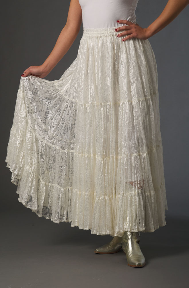 Lace Ruffled Romantic Skirt (3 days to ship)