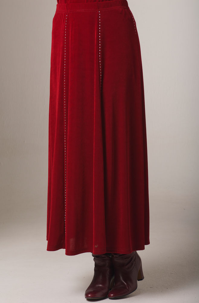Red Sparkly Long Skirt