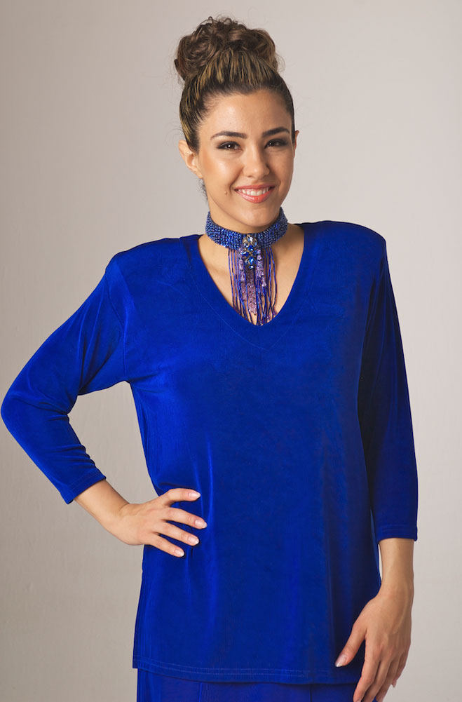 eaed9968db8 Royal Blue V-Neck Tunic Top. (7 days to ship). [Limited Edition]. #T504
