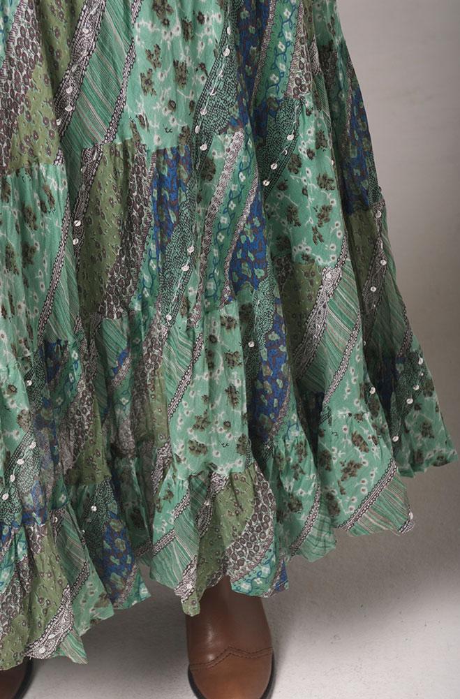 Sage Multi Color Flowy skirt