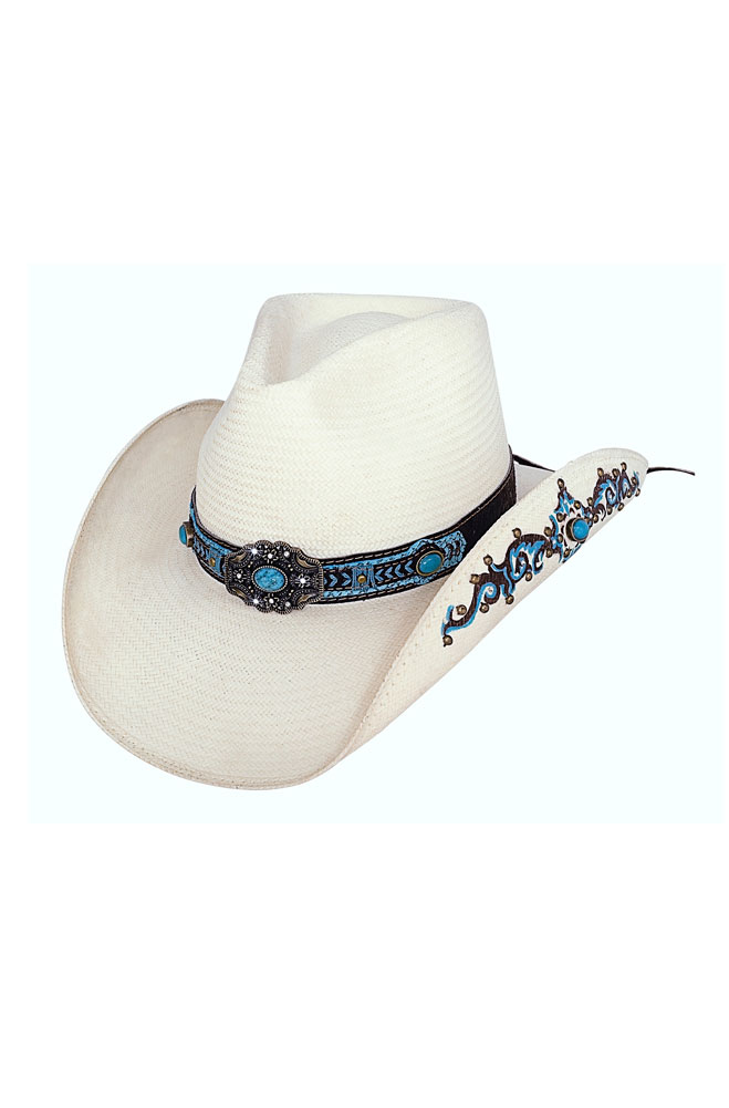 Sassy Cowgirl Straw Hat - Sweet Seduction. (7 days to ship). #2642Hat