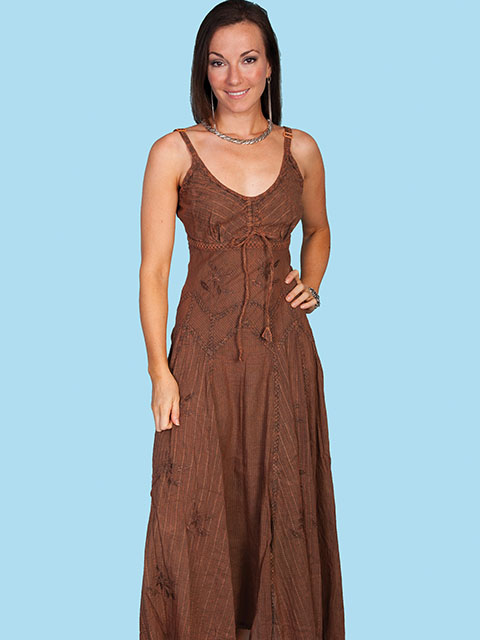 Scully Copper Cotton Dress. (7 days to ship). #HC62