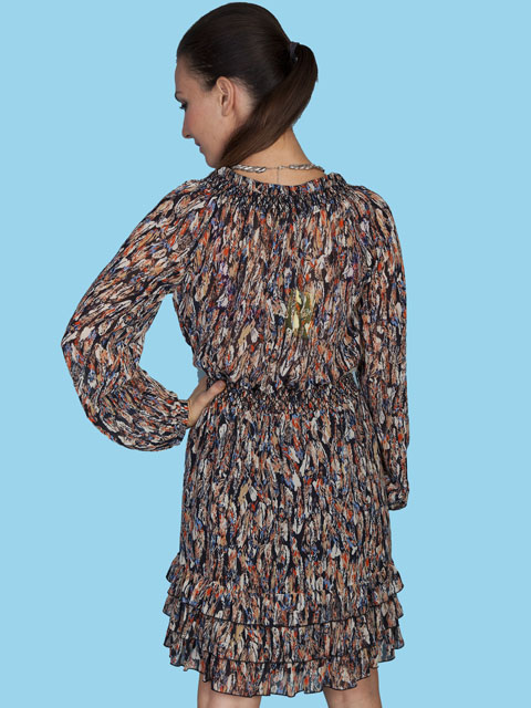 Scully Feather Print Summer Dress