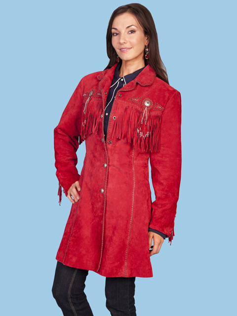 Scully Knee Length Boar Suede Coat