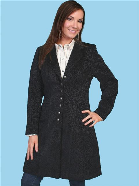 Scully Old West Style Velvet Coat. (7 days to ship). #740099BLK