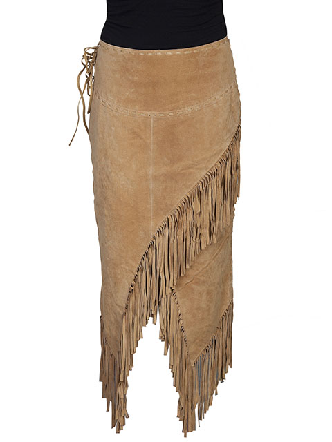Scully Suede Long Skirt with Fringe