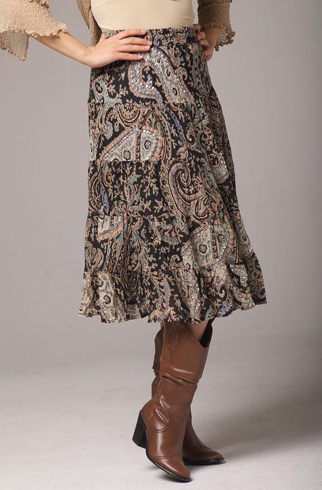 Sequined short skirt. #5090