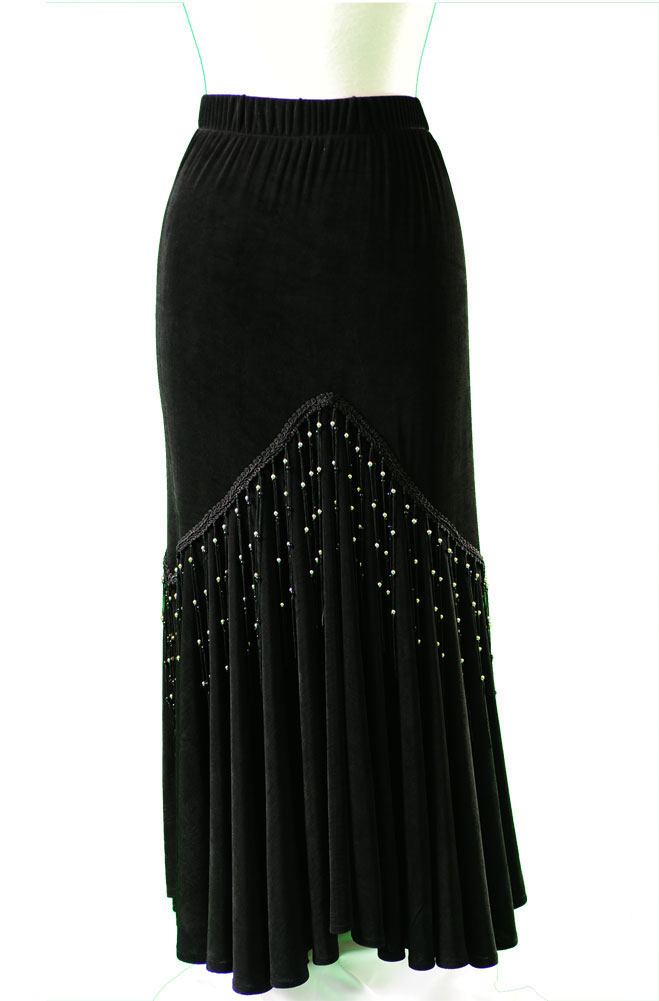 Sexy Fit and Flare Long Black Skirt (10 days to ship)