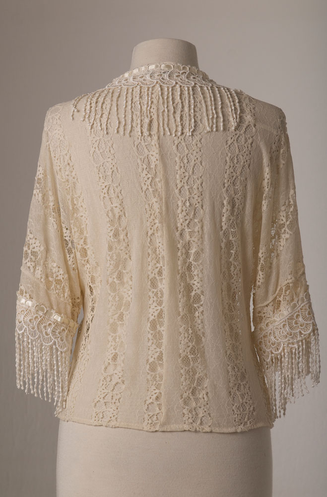 Sexy Lace Short Sleeve Blouse With Fringe (7 days to ship)