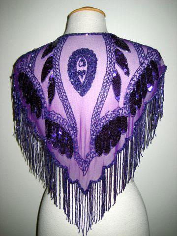 Sexy Western Purple Beaded Caplet