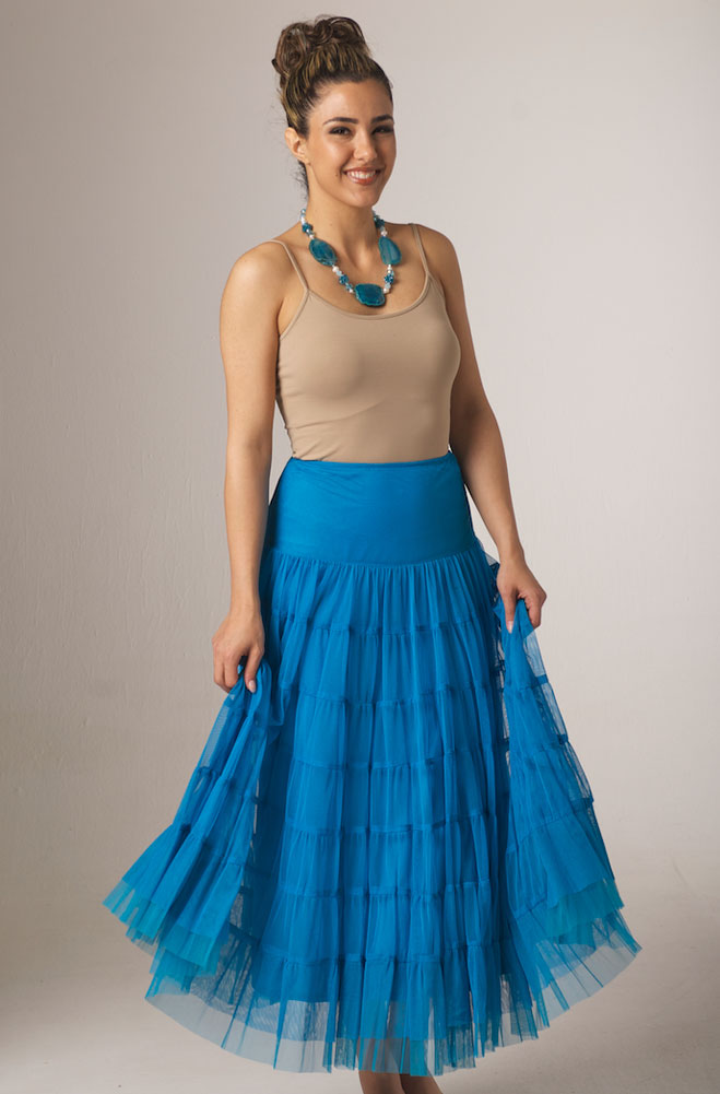 Vintage Collection Turquoise Skirt. (2 weeks to ship). #5099VC