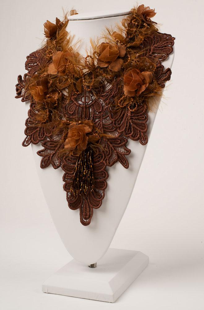 Vintage Copper Embellished Neck Piece (3 days to ship)