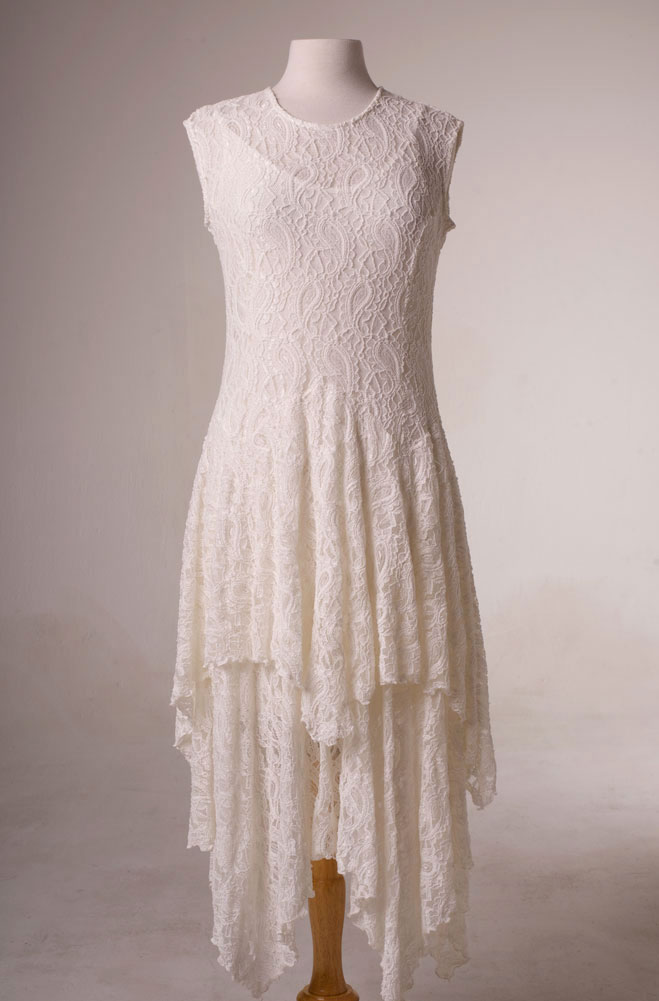 Wedding Dress Outfit in Ivory Lace Western Style (10 days to ship ...