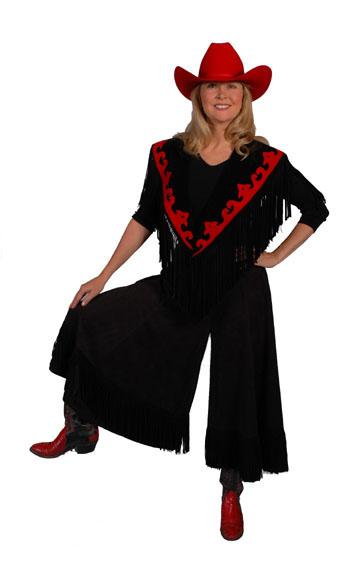 Western Style Black Gaucho. #AE2003B