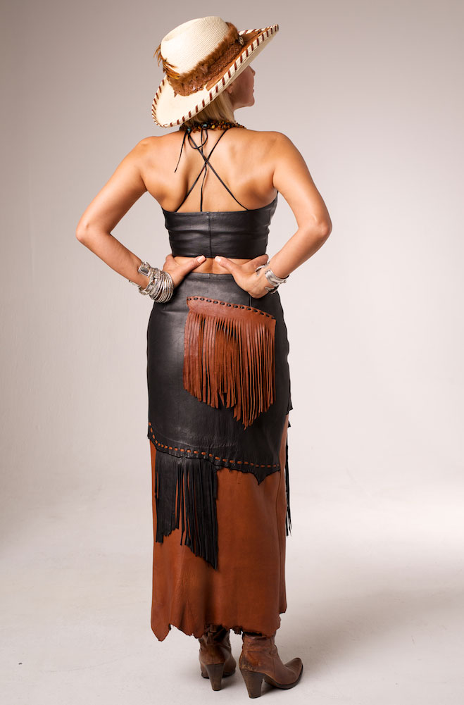 Handmade One-Of-A-Kind Deer Skin Long Skirt
