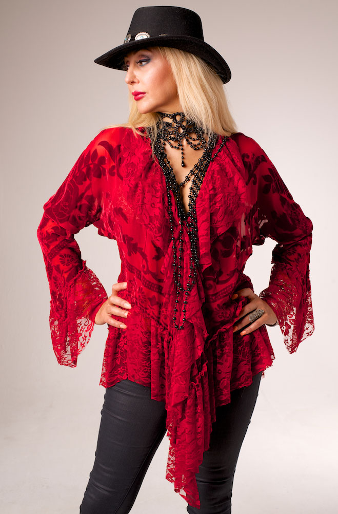 Romantic Boho Vintage Style Old West Top
