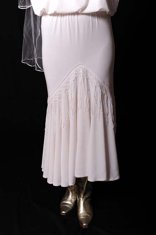White Lacey fringe Skirt (7 days to ship)