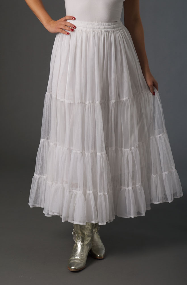 f8407ac2333 White Ruffled Net Mesh Skirt.  Limited Edition .  AE5067 Shiba