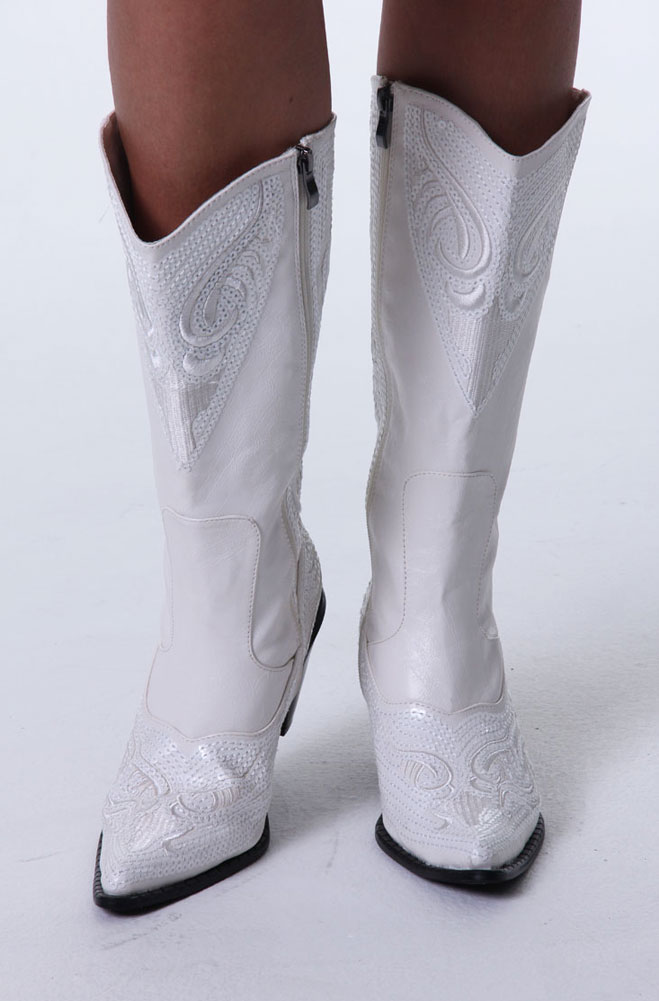White Western Wedding Boots 10 Days To Ship 101wsbt
