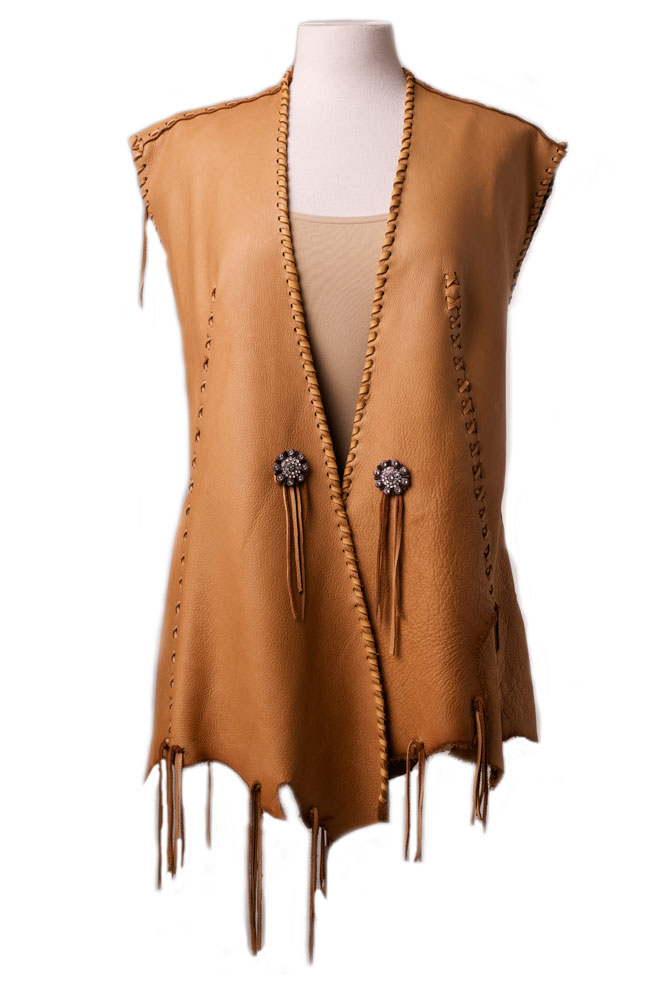 One of a kind Deer Skin Vest