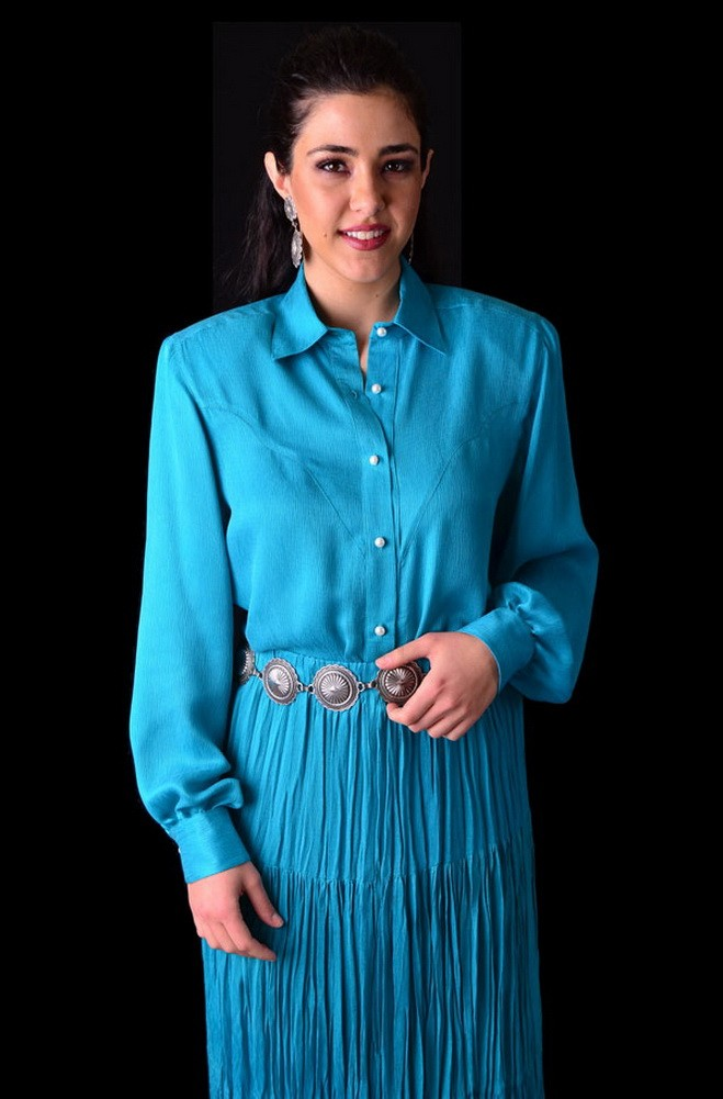 Western Style Long Sleeve Blouse. #0019BL0015