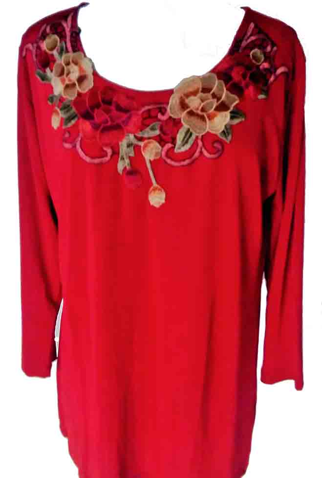 Floral Embroidered Boho Top. #T-101