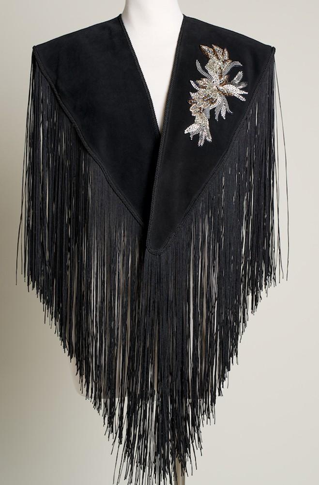 Elegant Western Black Shawl. #SH1004-17