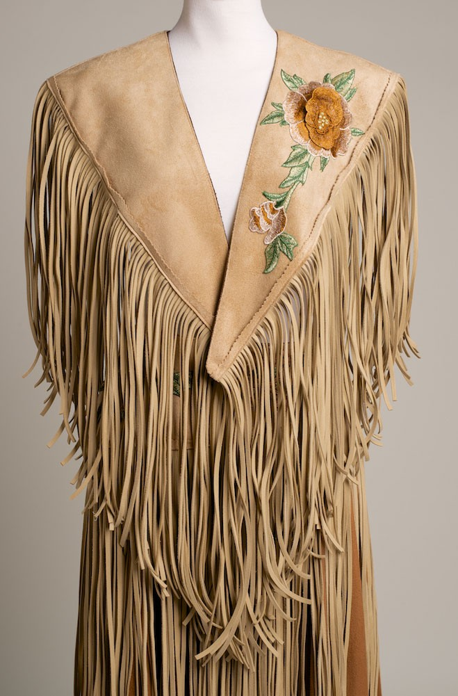 Ultra Suede Shawl with Floral Embroidery applique. (2 weeks to ship). #SH1022-17
