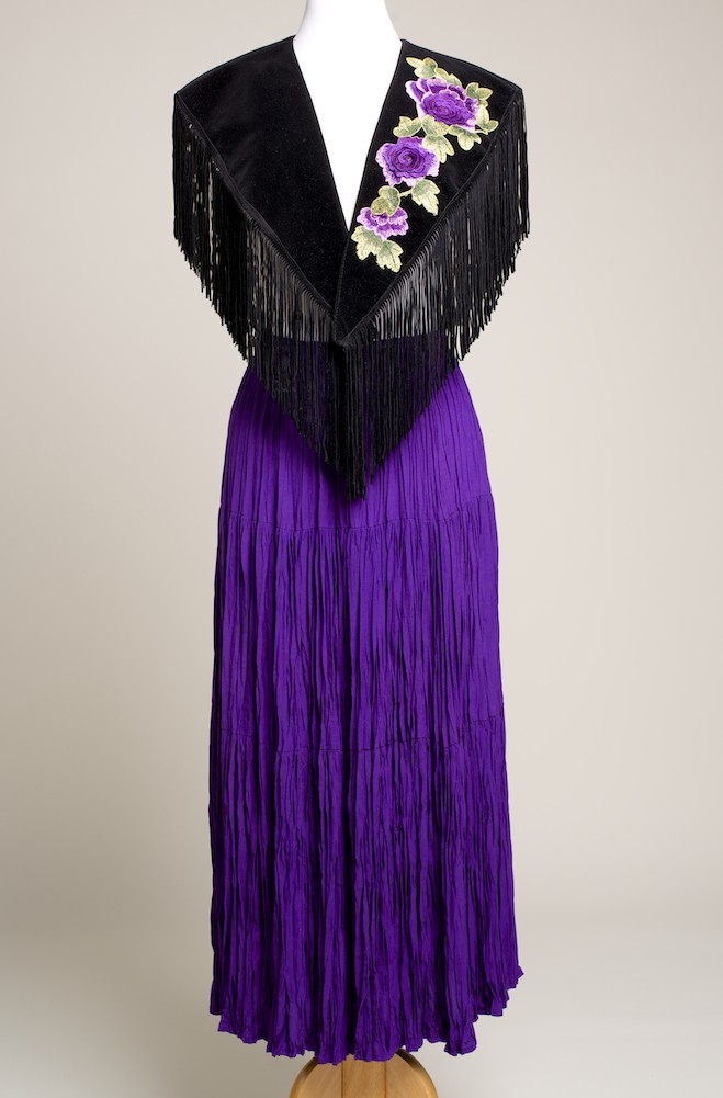 Purple Color 3D Flower Applique Western Shawl. (10 days to ship). #SHAP1003-17 Limited Edition