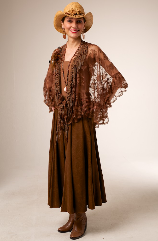 Elegant Western Style Lace Shawl. (10 days to Ship). #SH1021-17 Limited Edition