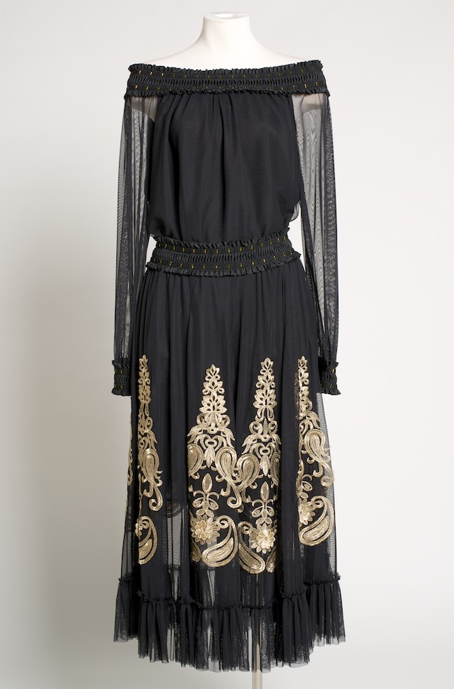 Romantic Black and Gold Embroidered Outfit. [Limited Edition]. #Outfit 201610-A