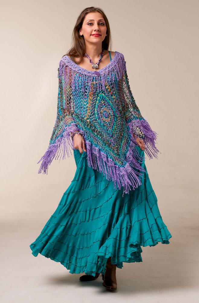 Boho Chic Hand Knit Shawl Set. #Boho Outfit 002