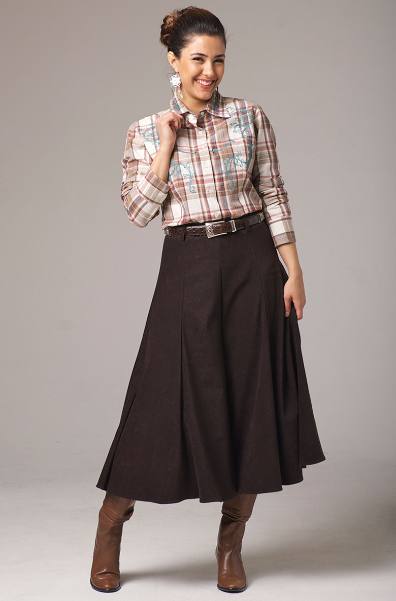 Gaucho Pants in Brown. #1408