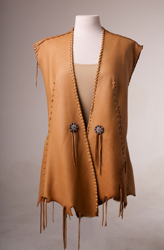 One of a kind Deer Skin Vest. (4 weeks to ship). #AE0125