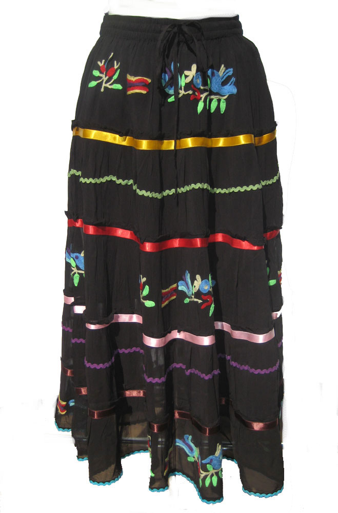 Southwestern Design Embroidered Skirt. (5 Days To Ship). #SK50001