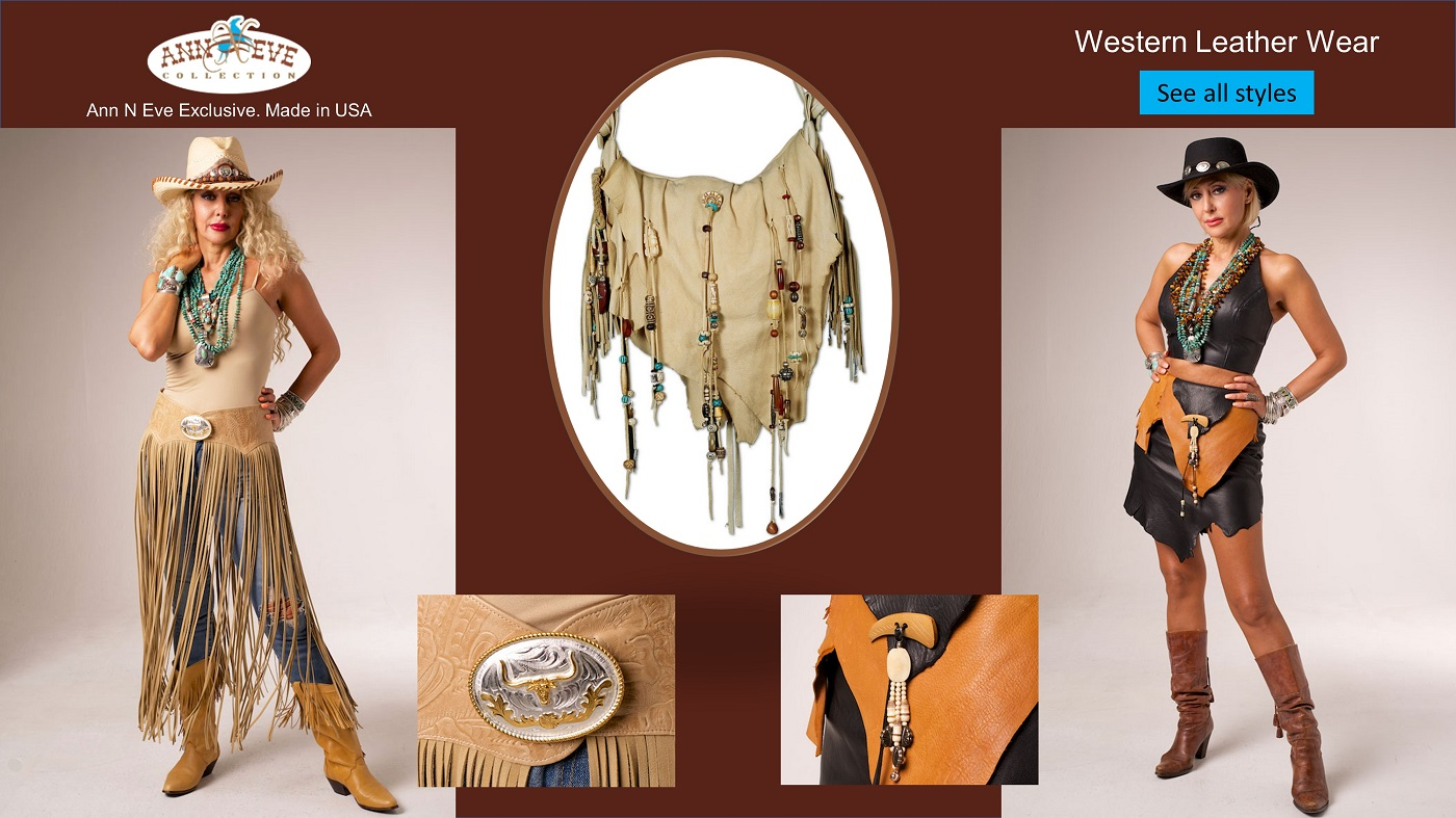 Bestseller Leather Vest from Ann N Eve Exclusive Womens Western Wear collection