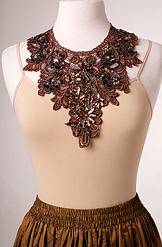 Beaded Copper Neck Piece Necklace. [Limited Edition]. #1609