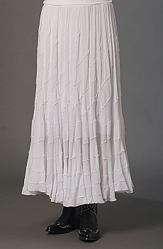 Boho Chic White Western Skirt. (7 days to ship). #5062