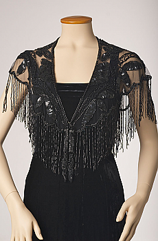 Beaded Capelet Shawl with Fringe - More Colors. (10 days to ship). #2050BD