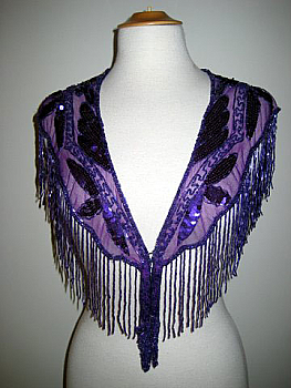 Sexy Western Purple Beaded Caplet. #2075BD