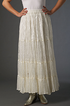 Lace Ruffled Romantic Skirt. (3 days to ship). [Limited Edition]. #5060SK-Shiba