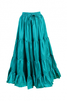 Ruffled Western Turquoise Skirt. (3 days to ship). [Limited Edition]. #5061SK-Shiba
