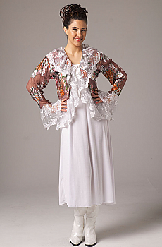 Vintage Look Floral Ruffled Jacket. #6046VIN