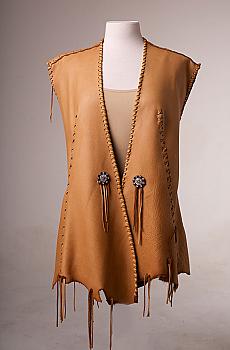 One of a kind Deer Skin Vest. (4 weeks to ship). #AE0125