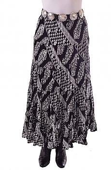 Black and White Paisley Skirt. #BO216