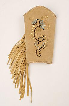 Elegant Palomino Color Suede One of a kind Cuff Bracelet. #C157