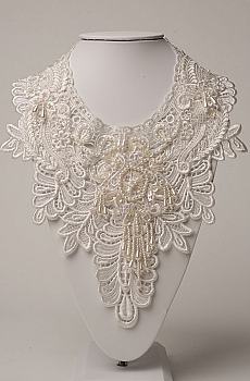 Bridal Venetian Lace Neck Jewelry. (3 days to ship). [Limited Edition]. #NCK12