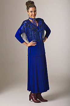 Formal Western Royal Blue Outfit. [Limited Edition]. #Outfit0067