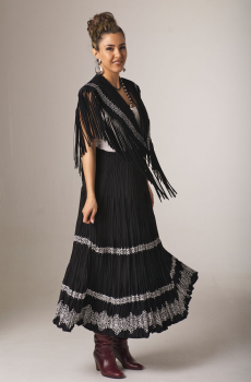 Elegant Two-Piece Black and White Outfit. (7 days to ship). [Limited Edition]. #Outfit0068